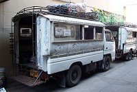The whit truck (bus) to the Earth Home Thailand